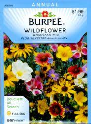 wildflower seed packets burpee burpee 38455 wildflowers burpees american mix seed packet