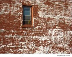 red brick wall with peeling paint stock picture i1348068 at