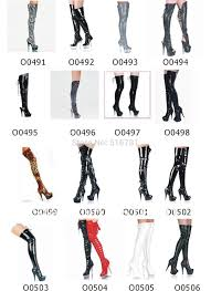 womens thigh high boots size 12 free shipping pu leather high heels knee