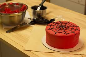 how to make a spider man web for a cake leaftv