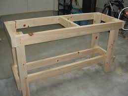 Easy Wood Workbench Plans by Garage Workbench Plans 2x4 Basement Pinterest Garage