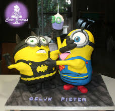 minion batman and minion superman cake 30th birthday cake the