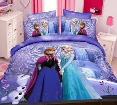 Children S Duvet Cover Sets Aliexpress Com Buy Purple Frozen Elsa Anna Bedding Sets U0027s