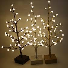60cm 48 glass balls pre lit led light up tree