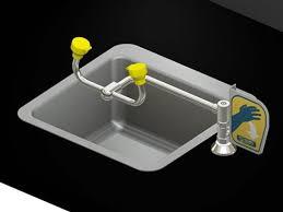 Faucet Mounted Eyewash Station Acorn S0a50 Lh Deck Mounted Swivel Eye Wash Station Left Hand