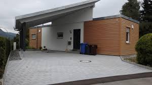 Vollstammhaus Preise Ein Flyingspace Mit Carport Anbau Als Schwimmbad Ersatz