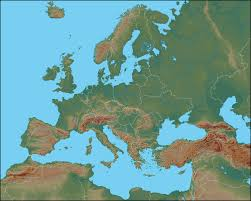Topographical Map Of Europe by Honors History European Geography Unit