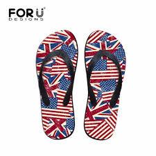 American Flag Shoes Mens Shoes Fashion Uk Usa Flag Puzzle Summer Flip Flops Teenager