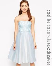 where to buy tulle zack bandeau midi prom dress with tulle skirt where