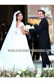 wedding dress for less princess madeleine of sweden cap sleeves lace wedding dresses for less jpg