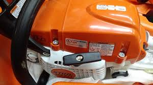 stihl ms271 spur farm boss chainsaw in carrying case headset