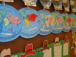 Blank Continents Map by Literacy Minute Paper Plate Continents