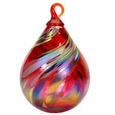 or206 glass eye studio raindrop ornaments swirl glass