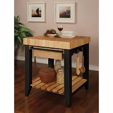 powell kitchen island l powell color story black butcher block kitchen island shop