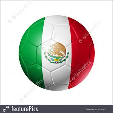 soccer football ball with mexico flag stock illustration i2463111