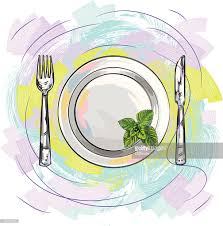 beautiful place setting vector art getty images