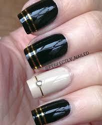 40 black nail art ideas white nail art white nails and gold stripes