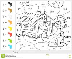 color by number subtraction worksheets paint color by addition