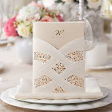 wedding invitations pocket foil sted laser cut ivory pocket wedding invitations