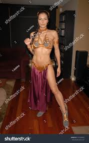 adrianne curry images adrianne curry slave leia day tour stock photo 101538304