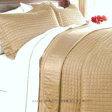 King Size White Coverlet Hotel 400tc Egyptian Cotton Gold Quilt Coverlet Set King Cal King