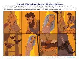 jacob deceived isaac match game children u0027s bible activities