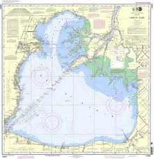 Intracoastal Waterway Map Noaa Chart 14850 Lake St Clair
