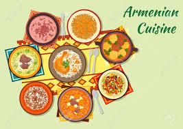 cuisine avec du riz armenian cuisine icône avec boulette soupe poulet cuit au four