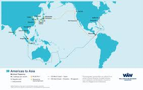 North And South America Map by Overseas Shipping Route Maps L Wallenius Wilhelmsen Logistics