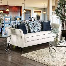 Transitional Style Furniture - chantal transitional style off white sofa
