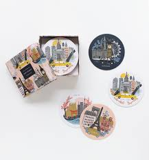 cities coaster set rifle paper decorating and house