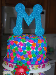 luau birthday tower cakecentral com