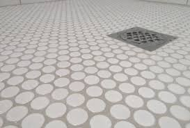 white gloss glazed ceramic mosaic tile