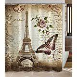Vintage Shower Curtain Amazon Com Vintage Shower Curtains Shower Curtains Hooks