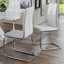 St Le Esszimmer Freischwinger Leder Stühle Modern Esszimmer Weiß Mxpweb Com
