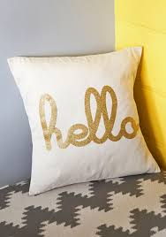 modcloth home decor hello is it gleam you u0027re looking for pillow find the cheerful
