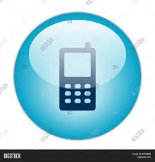 glassy blue mobile phone icon image u0026 photo bigstock