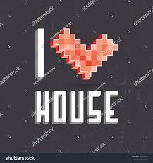 beautiful inscription love house vector illustration stock vector