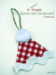 sewvery a sewvery simple santa hat ornament tutorial