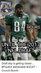 Draft Day Meme - hours until the 2017 nfl draft draft day is getting closer fredex