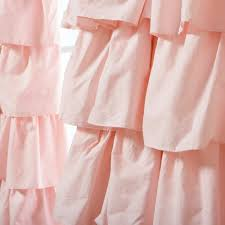 Pink Ruffle Blackout Curtains 100 Pottery Barn Ruffle Blackout Panel 15 Best Nursery Curtains
