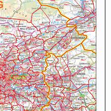 Stirling Scotland Map Postcode Sector Map S17 Scottish Central Belt West Gif