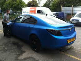 Arlon Blue Aluminium Wrap On Vauxhall Insignia Wrapvehicles Co