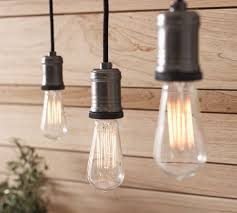 pottery barn light bulbs hanging pendants track exposed bulb pendant track lighting