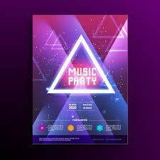 music party poster template vector free download