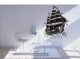 pirate home decor bedroom treasure chest furniture and storage removable fashion home decor decal nautical sail boat pirate ship wall decal sticker room decor vinyl wall art sticker