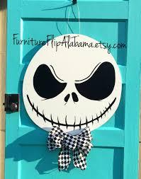 halloween door hanger jack skellington wreath skeleton door hanger