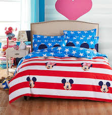 American Flag Bedding Mickey Mouse American Flag Kids Bedding Set Queen 4pcs Sale