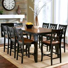 progressive furniture willow counter height dining table rectangular counter height table new roslyn 9 piece dining set