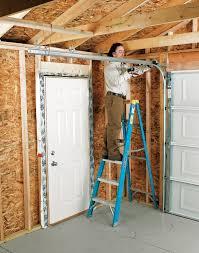 garage door bottom bracket installing an overhead garage door black decker